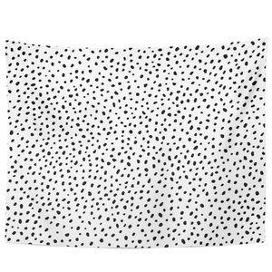 black and white poka dot tapestry